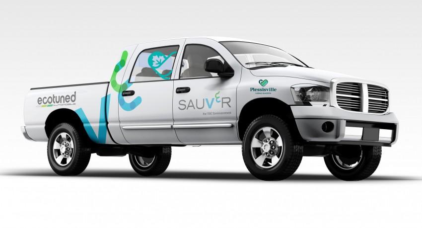 Ville - camion électrique