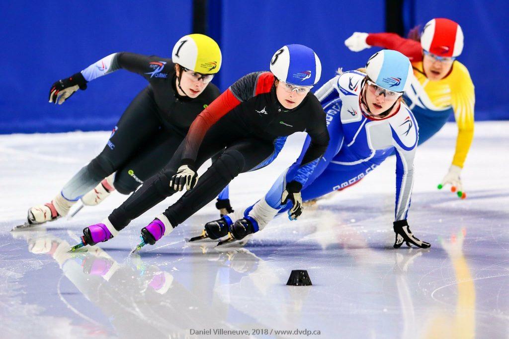Ariane Fournier, patineuse de vitesse, de Lyster