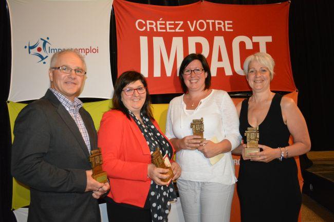 Représentants des 4 entreprises gagnantes du concours Employeurs d'impact
