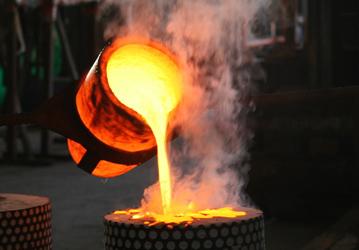 Coulée de bronze