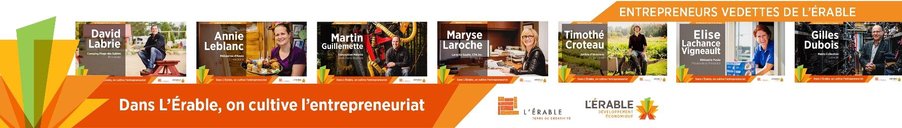 Sept entrepreneurs vedettes de L'Érable