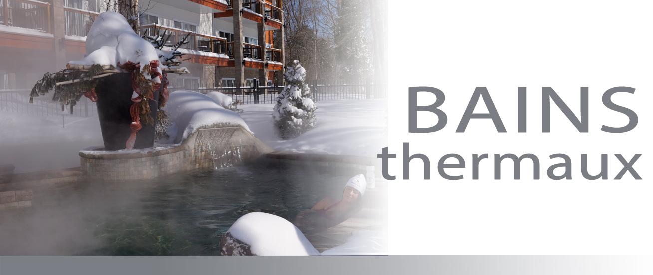 Les bains thermaux dans la région de L'Érable