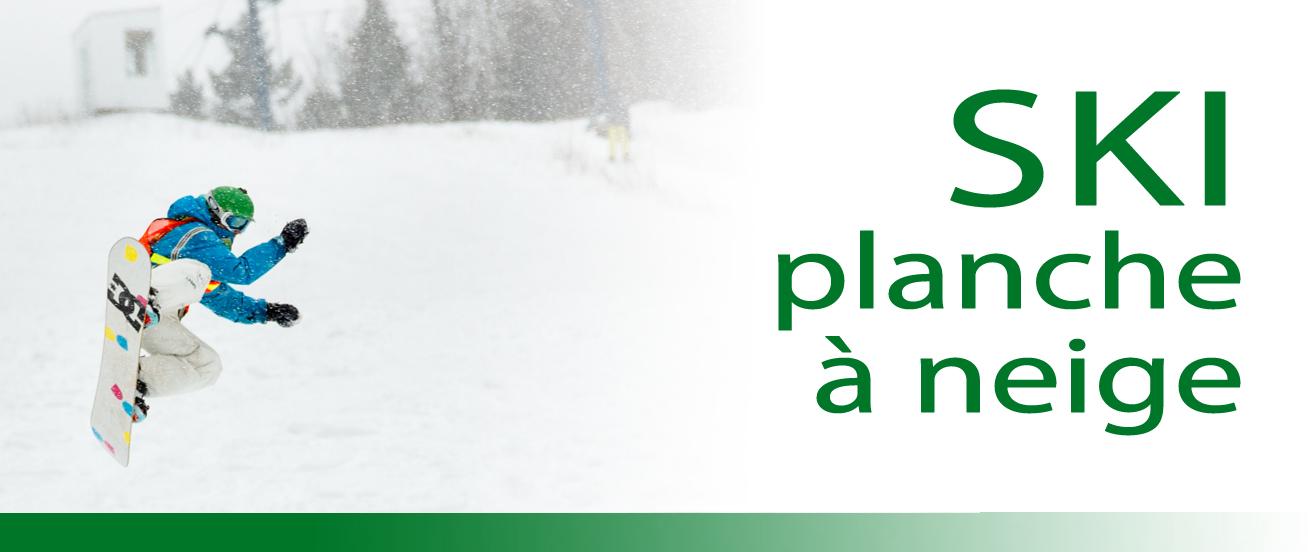 Ski et planche à neige dans L'Érable