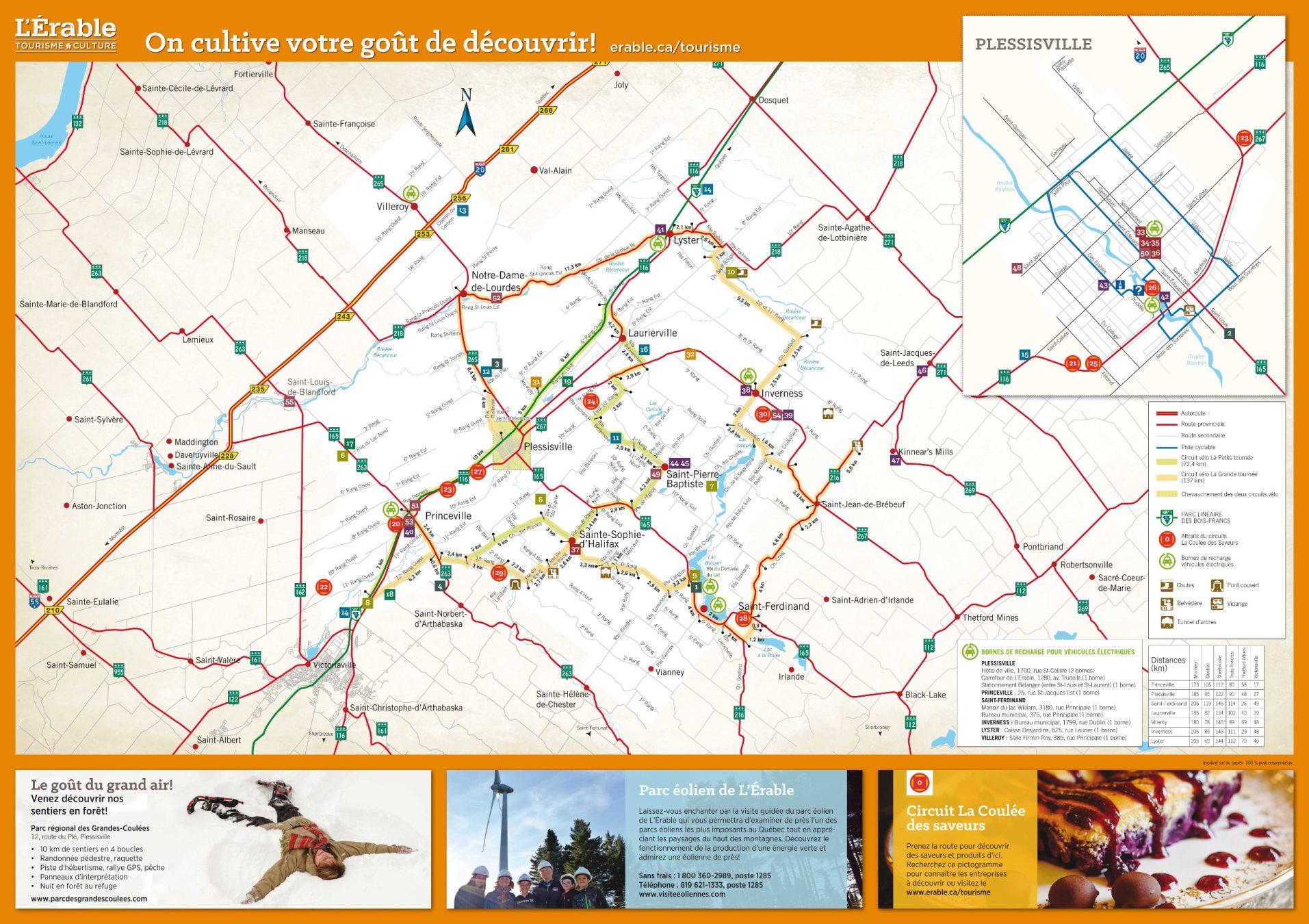 Carte touristique de L'Érable 2018, page 2