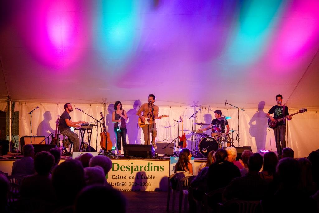 Spectacle musique festival dans L'Érable