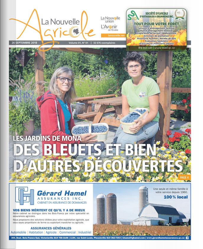 Jardins de Mona, La Nouvelle agricole