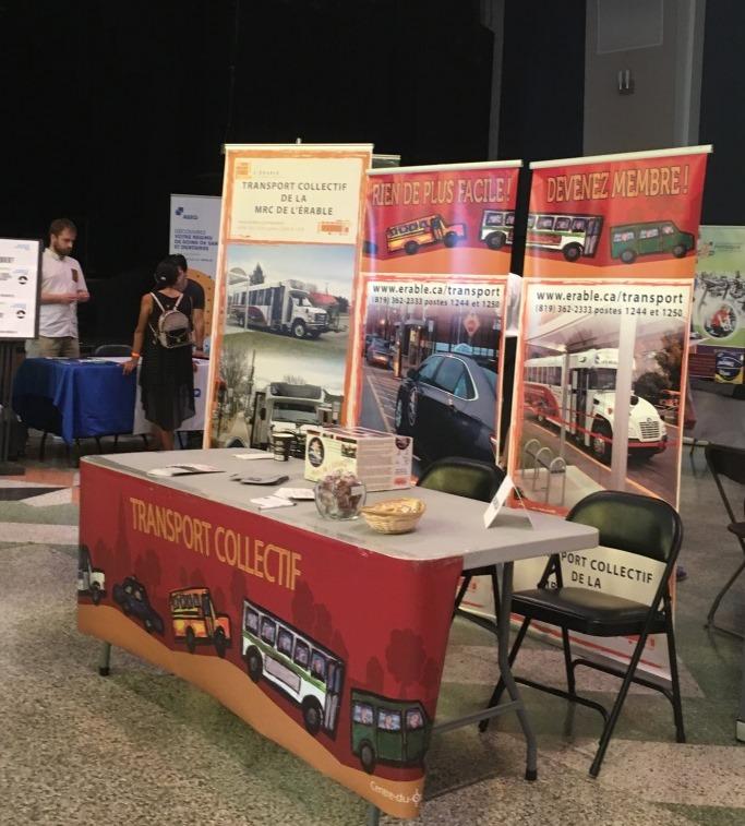 Kiosque du transport collectif de L'Érable lors des journées de la rentrée