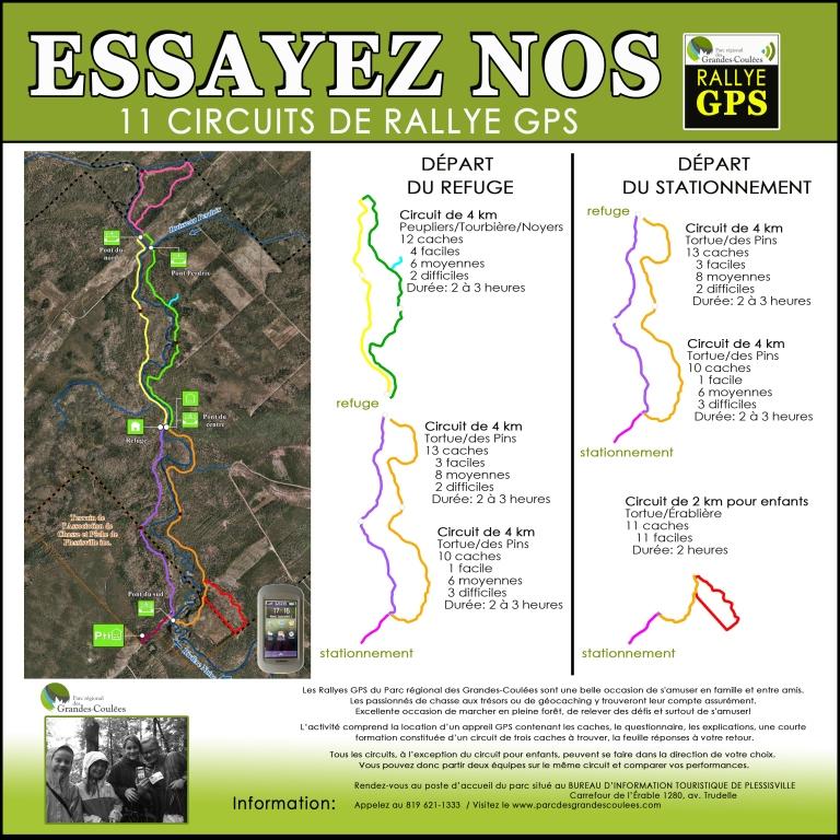 Rallye GPS parc régional Grandes-Coulées