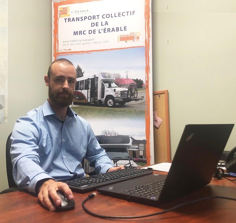 Simon Bégin, coordonnateur au transport de personnes, MRC de L'Érable