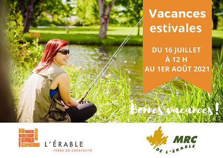 Vacances été 2021 MRC de L'Érable