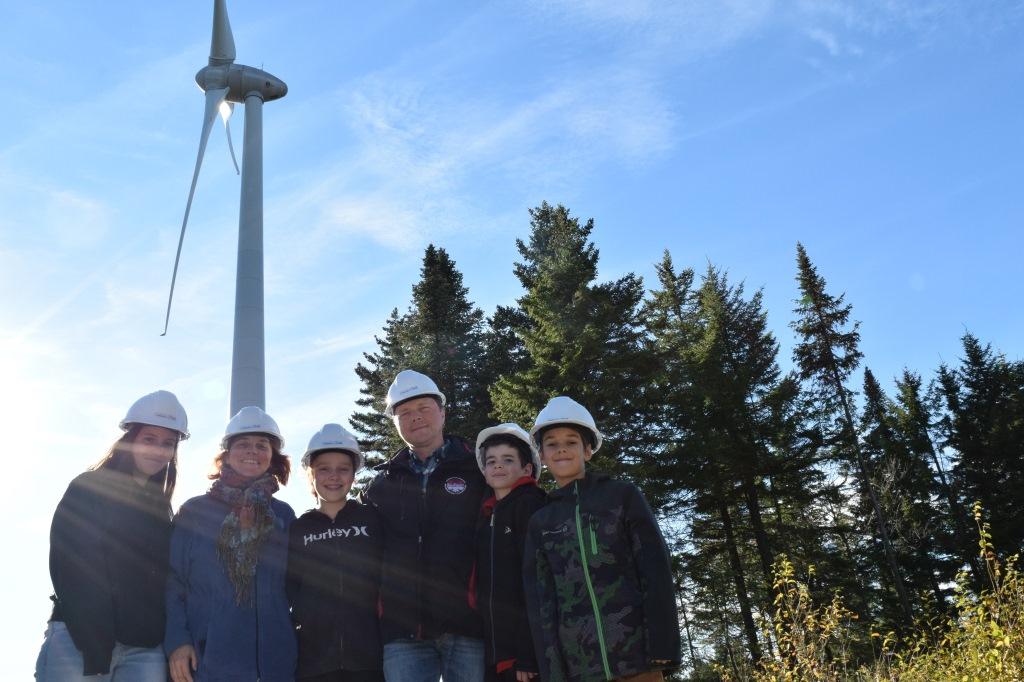 Visite du parc éolien de L'Érable