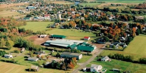 Vue aérienne de la municipalité de Laurierville