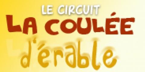 Logo circuit la coulée d'érable
