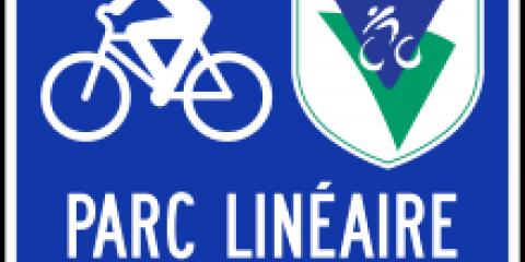 logo du parc linéaire des Bois-Francs sur la route verte