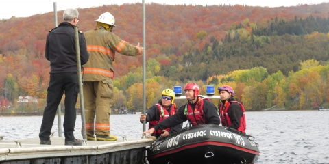 Sauvetage nautique du SSIRÉ lac William